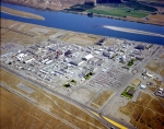 Photos of the Hanford Site's 300 Area from 1982 (above) and 2015 (below) show dramatic changes visible after cleanup of more than 200 facilities and 300 waste sites. One facility, the 324 Building, remains for remediation, and a few buildings will continue to be used by the Pacific Northwest National Laboratory, which is part of DOE's network of national laboratories.