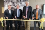 Ribbon cutting ceremony for the Chain Reaction Innovations program launch. From left to right: Dr. David Danielson, Assistant Secretary for Energy Efficiency and Renewable Energy; Dr. Peter Littlewood, Director of Argonne National Laboratory; Dr. Mark Johnson, Director of the Advanced Manufacturing Office (AMO) in the Office of Energy Efficiency and Renewable Energy; and Dr. Andreas Roelofs, Director of Chain Reaction Innovations.