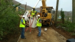 Crews work on St. Thomas's electrical backbone