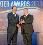The award recognized CH2M HILL for its excellence in the international water industry. CH2M HILL's Water Business Group's International Client Sector Director Peter Nicol accepted the award from Global Water Awards Speaker and former Mexican President Vicente Fox.
