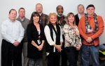Pictured are members of the Portsmouth Site Sustainability Team, including: (Left to right) Joe Moore, Bob Anderson, Stephanie Puckett, Matt Vick, Lisa Burns, Vince Adams, Stephanie McLaughlin, Frank Johnston, and Ron Shelato.  Team members Roger Steckel, Russell McCallister, Roger Coats, Jeff Stone, and Mandy Mayo are not shown.