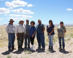 CGTO representatives at the NNSS, left to right, Kenny Anderson, Las Vegas Paiute Tribe; Richard Arnold, Pahrump Paiute Tribe, CGTO spokesperson; Ross Stone, Big Pine Paiute Tribe; Betty Cornelius, Colorado River Indian Tribes; Maurice Frank-Churchill, Duckwater Shoshone Tribe; Danelle Gutierrez, Big Pine Paiute Tribe; and Barbara Durham, Timbisha Shoshone Tribe.