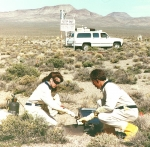 Workers conduct soil sampling at Double Tracks in 1995.