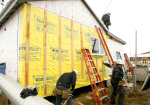Many homes in Alaska such as this one under construction are using energy much more efficiently as a result of financial support from the Energy Department to the state.  Photo courtesy Alaska Housing Finance Corporation. (AHFC)