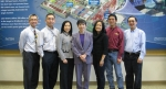 Anh Tu Quach, pictured in black, third from right, on a tour of the world's largest, most energetic laser, the National Ignition Facility, with esteemed visitor Duy-Loan Le, Texas Instruments' first female Senior Fellow.