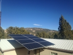 State Energy Program funds from the U.S. Department of Energy supported the installation of batteries to store energy from this solar system at Nevada's Beaver Dam State Park near the Utah border.