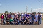 Collegiate Wind Competition 2015 participants and judges at the National Wind Technology Center at the National Renewable Energy Laboratory. <em>Photo by Lee Jay Fingersh</em>