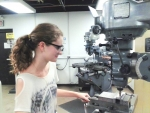 Brianna Thorpe is a student researcher working with Thomas Jefferson National Laboratory. She worked with Arizona State University's Meson Physics Group to build the triplet polarimeter currently used in one of the Hall D experiments.