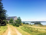A home in the island town of Vinalhaven, Maine reaps the benefits of solar energy.