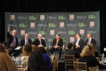 Dr. Mark Johnson (left), Director of the Energy Department's Advanced Manufacturing Office, moderates a panel on shared infrastructure and innovation ecosystems.