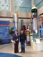 Sarah Lennon at the Qinshann Nuclear Power Plan Museum