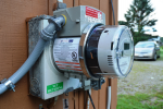 The ConnectDER device, seen above, sits in between the meter and the meter socket.