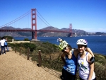 Elizabeth Case and Rachel Woods-Robinson leave today on their bike ride from San Francisco to New York City to meet STEM educators and teach a little physics. | Photo courtesy of Elizabeth Case & Rachel Woods-Robinson.