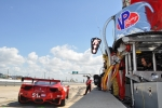 A racecar heads into the pits for refueling during the 12 Hours of Sebring in Florida on Saturday. Integrated biorefinery INEOS Bio now supplies cellulosic ethanol to VP Racing Fuels, which fuels the action at TUDOR United SportsCar Championship series races. | Photo by Natalie Committee, Energy Department
