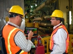 Bechtel employees Jared Thomas (left) and Brian Tyrrell at WTP.