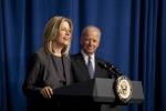 Deputy Secretary Elizabeth Sherwood-Randall speaks at her swearing-in ceremony. | Energy Department Photo.