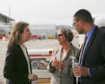 (Left to right) Elizabeth Sherwood-Randall, Deputy Secretary of Energy; Sue Cange, Oak Ridge Office of Environmental Managment Manager; and Tim McClees, Chief of Staff to the Deputy Secretary of Energy