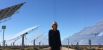 Deputy Secretary Elizabeth Sherwood-Randall stands amidst the heliostats at the Crescent Dunes concentrating solar power project.