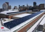 An aerial view of the solar installation | courtesy of District Energy St. Paul