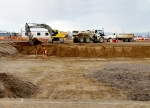 Workers excavate for the Effluent Management Facility site at Hanford's Waste Treatment and Immobilization Plant.