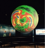 This gigantic animated globe will soon take environmental awareness to a whole new level! The National Oceanic & Atmospheric Administration's (NOAA's) Science On a Sphere, like this one at their headquarters in Maryland, will soon feature new energy datasets to project on these animated globes worldwide. |Photo courtesy of Erin Twamley, Energy Department.