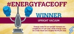 The vacuum takes the title of most efficient in #EnergyFaceoff round two.   Graphic courtesy of Stacy Buchanan, National Renewable Energy Laboratory