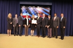 FEMP/DOT team members accepting award at the GreenGov Presidential Award Ceremony. | Photo credit U.S. ACE.