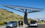 Photo of an electric vehicle charging station.