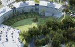 Aerial photo of buildings.