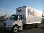 FedEx, a National Clean Fleets partner, is expanding its advanced technology vehicle fleets in Kansas and Michigan with the support of Clean Cities projects in those states. | Photo courtesy of Jonathan Burton, NREL.
