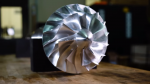 A supercritical carbon dioxide turbine built by GE Global Research and Southwest Research Institute that's one-tenth the size of a traditional steam turbine. Photo courtesy of GE Global Research.
