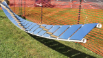 Picture of a solar collector technology known as ganged heliostats