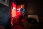 A Home Energy Professionals Certifications Energy Auditor performs a Blower Door Test in Colorado.