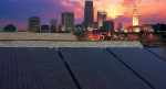 Ali Ahmed, senior manager of global energy and sustainability at Cisco Systems, installed the first panels of the Solar Community initiative on his Cleveland, Ohio rooftop.