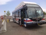 Grand Junction's CNG station fuels the city's fleets and county buses and is available to fuel public vehicles as well. Pictured above, a Grand Valley Transit bus is preparing to refuel.