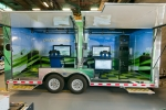 Drivers can learn about fuel efficiency in the Green Racing Simulator which models a hybrid race car. Photo: courtesy of Argonne National Laboratory