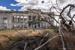 Shown here are the remains of Hanford High School, built in 1916 in the town of Hanford. It is one of many attractions at the Manhattan Project National Historical Park.