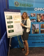 Theresa Kliczewski, environmental protection specialist in EM's Office of Disposition Planning and Policy, explains the GTCC EIS path forward to participants in the Waste Management Symposia 2016 in Phoenix.