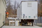 New groundwater contamination treatment equipment sits outside the C-612 Northwest Pump-and-Treat facility.