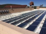 Photo of rooftop solar array