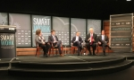 (From left to right: Moderators Vicki Needham and Peter Shcroeder; Panelists Stephen Ezell, Dr. Mark Johnson, and Greg Scheu)