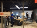 """Students participate in FirstBuild's """"hackathon"""" event Friday, October 2, in Louisville, Kentucky as part of Manufacturing Day. Image courtesy Deloitte."""