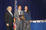 Energy Secretary Ernest Moniz, LBNL Staff Scientist Michael Stadler, and Assistant Secretary Patricia Hoffman at the May 4, 2016 ceremony honoring this year's 13 PECASE winners funded by the Energy Department. | Photo courtesy of DOE's Office of Science