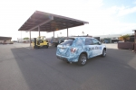 A fuel cell electric vehicle (FCEV) in Hawaii. Engineers from Idaho National Laboratory and National Renewable Energy Laboratory identified a new way to launch economically viable hydrogen fueling stations for FCEVs in Honolulu. | Photo by Michael Penev, National Renewable Energy Laboratory