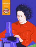 Illustration of scientist Irene Joliot-Curie, who's work greatly influenced the Manhattan Project.