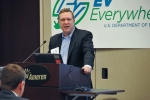 Assistant Secretary Danielson spoke about the importance of stakeholder collaboration to realize the goals of EV Everywhere.   Photo courtesy of Ameren Corporation