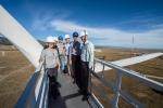 Janine Benner (far left), EERE's new Associate Assistant Secretary, stands atop a wind turbine during a recent visit to the National Renewable Energy Laboratory in Golden, Colorado. | <em>Photo courtesy of NREL</em>