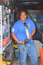 The Rocky Mountain Youth Corps' Jasmine Ramero found a new career in weatherization with help from the Energy Department.  Photo courtesy of Rocky Mountain Youth Corps
