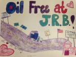 Art created by a student at John Briggs Elementary School as part of their recent Green Ceremony.  John Briggs Elementary is one of the Massachusetts schools switching their heating fuel source from petroleum based fuels to wood pellets.