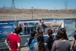 John Britton, with Office of River Protection contractor Washington River Protection Solutions, explains the Hanford tank waste program to Western Washington University students in a recent tour of the Hanford site.